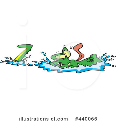Alligator Clipart #440066 by toonaday
