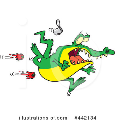 Alligator Clipart #442134 by toonaday