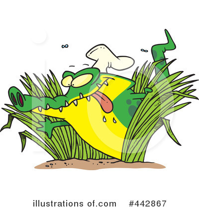 Alligator Clipart #442867 by toonaday