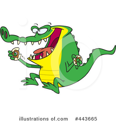 Alligator Clipart #443665 by toonaday