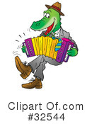 Royalty-Free (RF) Alligators Clipart Illustration #32544