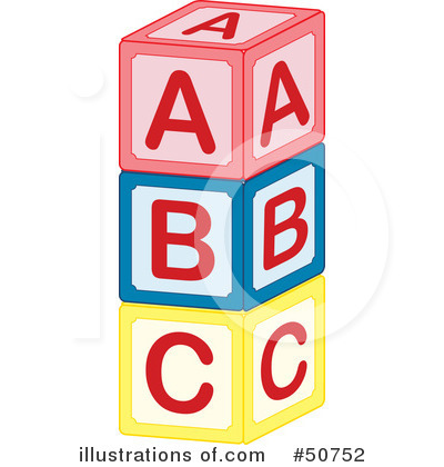 More Clip Art Illustrations of Alphabet Blocks
