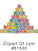 Royalty-Free (RF) Alphabet Blocks Clipart Illustration #61630