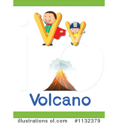 Volcano Clipart #1132379 by Graphics RF