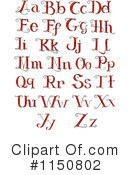 Royalty-Free (RF) alphabet Clipart Illustration #1150802