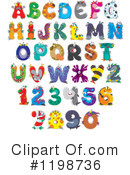 Royalty-Free (RF) Alphabet Clipart Illustration #1198736