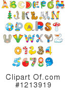 Royalty-Free (RF) Alphabet Clipart Illustration #1213919