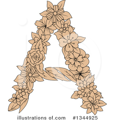 Letter A Clipart #1344925 by Vector Tradition SM
