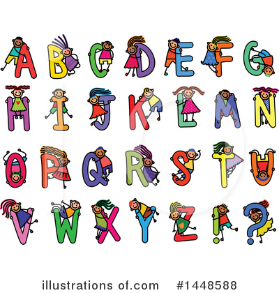 Royalty-Free (RF) Alphabet Clipart Illustration by Prawny - Stock Sample #1448588