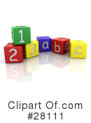 Royalty-Free (RF) Alphabet Clipart Illustration #28111