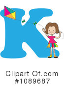 Royalty-Free (RF) Alphabet Girl Clipart Illustration #1089687