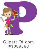 Royalty-Free (RF) Alphabet Girl Clipart Illustration #1089688