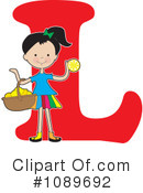 Royalty-Free (RF) Alphabet Girl Clipart Illustration #1089692