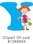 Royalty-Free (RF) Alphabet Girl Clipart Illustration #1089694