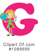 Royalty-Free (RF) Alphabet Girl Clipart Illustration #1089699