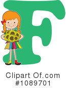 Royalty-Free (RF) Alphabet Girl Clipart Illustration #1089701