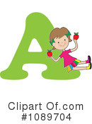Royalty-Free (RF) Alphabet Girl Clipart Illustration #1089704