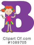 Royalty-Free (RF) Alphabet Girl Clipart Illustration #1089705