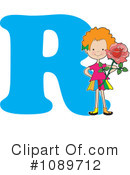Royalty-Free (RF) Alphabet Girl Clipart Illustration #1089712