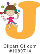 Royalty-Free (RF) Alphabet Girl Clipart Illustration #1089714