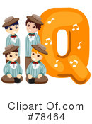 Royalty-Free (RF) Alphabet Kid Letter Clipart Illustration #78464