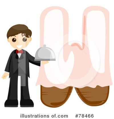 Waiter Clipart #78466 by BNP Design Studio