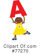Royalty-Free (RF) alphabet kids Clipart Illustration #77270
