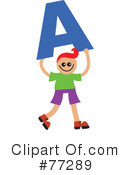 Royalty-Free (RF) Alphabet Kids Clipart Illustration #77289