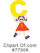 Royalty-Free (RF) Alphabet Kids Clipart Illustration #77306