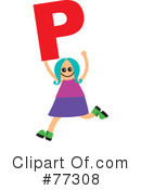 Royalty-Free (RF) Alphabet Kids Clipart Illustration #77308