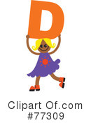 Royalty-Free (RF) Alphabet Kids Clipart Illustration #77309