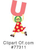 Royalty-Free (RF) Alphabet Kids Clipart Illustration #77311