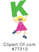 Royalty-Free (RF) Alphabet Kids Clipart Illustration #77313