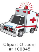 Royalty-Free (RF) Ambulance Clipart Illustration #1100845