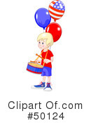 Royalty-Free (RF) American Boy Clipart Illustration #50124