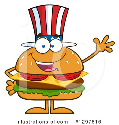 Burger Clipart #1297816 by Hit Toon