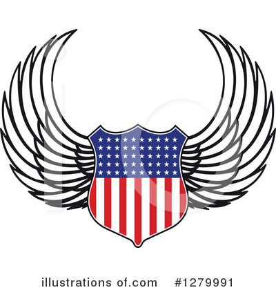 Winged Shield Clipart #1279991 by Vector Tradition SM