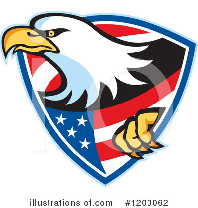 Bald Eagle Clipart #1200062 by patrimonio