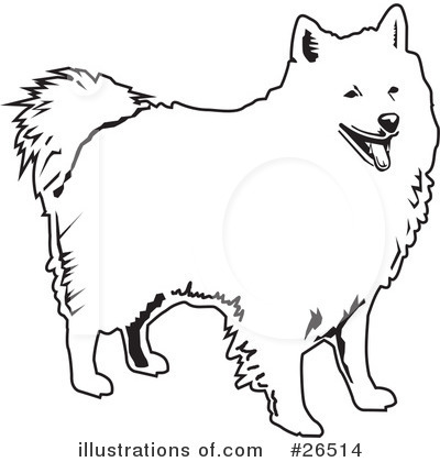American Eskimo Dog Clipart #26514 by David Rey | Royalty-Free (RF ...