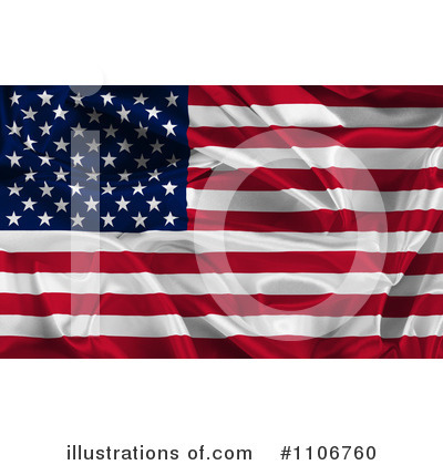 American Flag Clipart #1106760 by KJ Pargeter