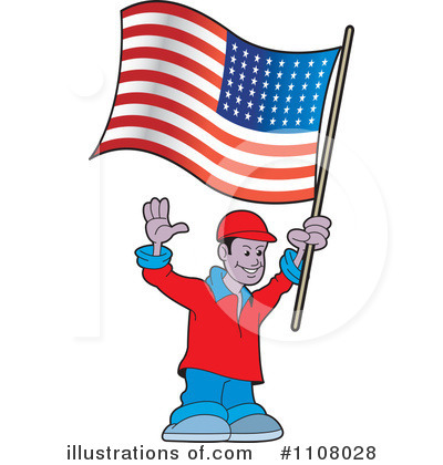 American Flag Vector on American Flag Clipart  1108028 By Lal Perera   Royalty Free  Rf  Stock