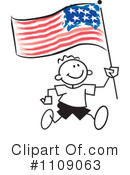 American Flag Clipart #1109063 by Johnny Sajem