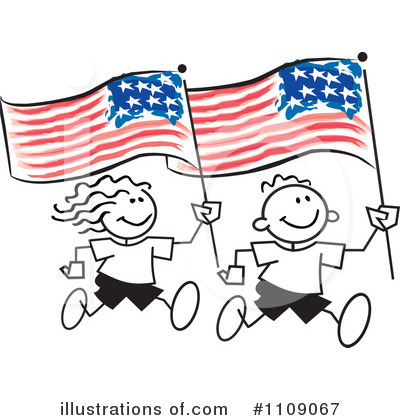 America Clipart #1109067 by Johnny Sajem