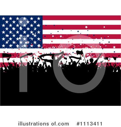 American Flag Clipart #1113411 by KJ Pargeter