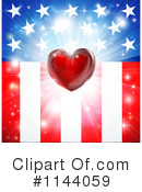 Royalty-Free (RF) American Flag Clipart Illustration #1144059