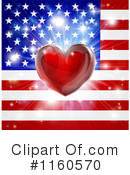 Royalty-Free (RF) American Flag Clipart Illustration #1160570