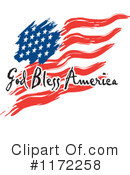 Royalty-Free (RF) American Flag Clipart Illustration #1172258