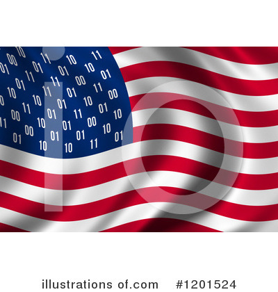 American Flag Clipart #1201524 by stockillustrations
