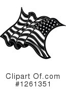 American Flag Clipart #1261351 by Chromaco