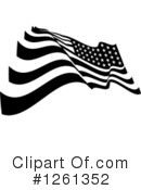 American Flag Clipart #1261352 by Chromaco